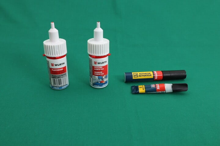 Super glues (cyanoacrylate) intended for use with plastics