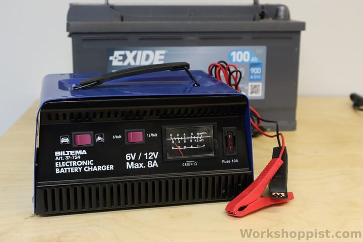 A conventional lead-acid battery charger